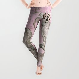 Pink Nostalgic Cockatoo Leggings