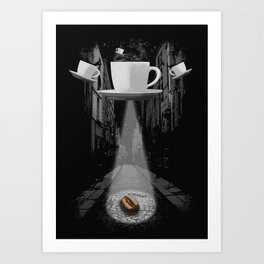 Mr. Coffee Bean Art Print