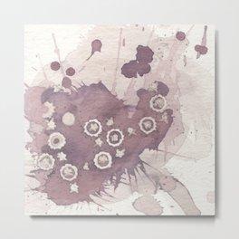 Polka Fleur Metal Print