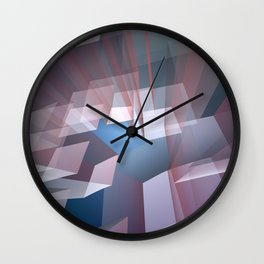 Kissing the sky, geometric fractal abstract Wall Clock