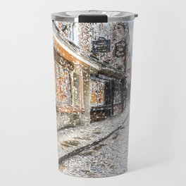 The Shambles York Snow Art Travel Mug