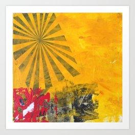 YELLOW SUNBURST Art Print