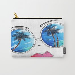 Fun Sunglass Lips PoP Art Design Summer Collection 2015 Aroon Melane Carry-All Pouch