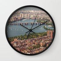 boston Wall Clocks featuring boston by shannonblue