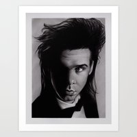 nick cave Art Prints featuring Nick Cave by Buffy Ino Kua