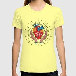 Tu Lucha Es Mi Lucha (Open Hands) T-shirt