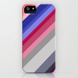grey blue pink purple stripes iPhone Case