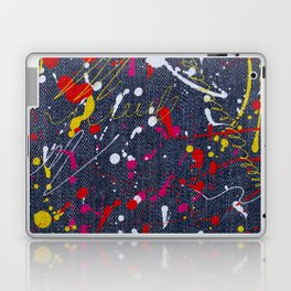 Paint splattered jeans Laptop & iPad Skin