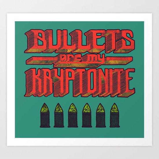Kryptonite (alternate) Art Print