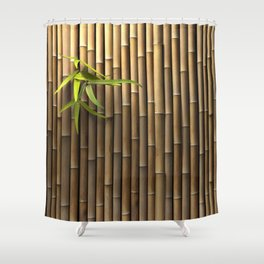 Bamboo Wall Shower Curtain