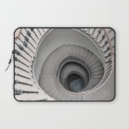 Pretty white spiral staircase Laptop Sleeve