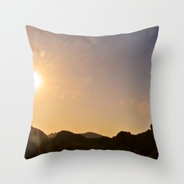 Sunset on the Apache Trail Throw Pillow