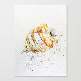 fish watercolor, watercolor, ocean fish, Canvas Print