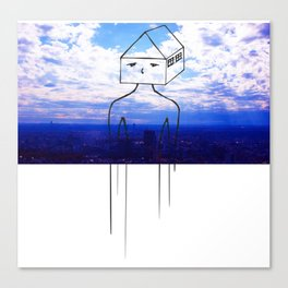 Head in the clouds, so is my house Canvas Print