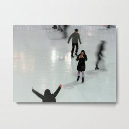Ice Skating at Night, 30 Rock, NYC Metal Print