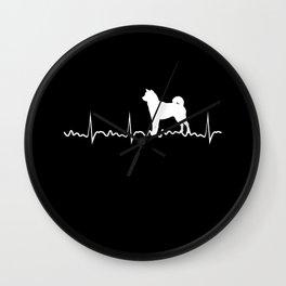 Heart Beat Shiba Inu Shiba Inu Dog Lover Japanese Puppy Gift Wall Clock