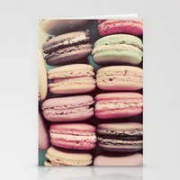 macarons Stationery Cards featuring Macarons by elle moss
