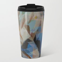 Abstract ink in blue and grey Travel Mug