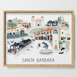 The best of Santa Barbara Serving Tray