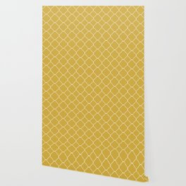 Yellow Moroccan Wallpaper
