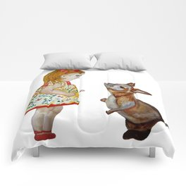 Child and Small Kangaroo (Watercolour) Comforters
