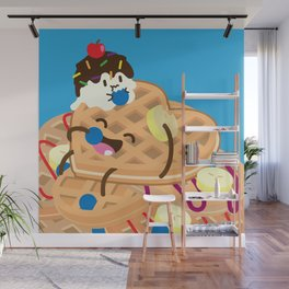 Waffles and Ice Cream Wall Mural