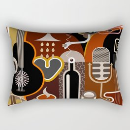 Abstract Music Background Rectangular Pillow