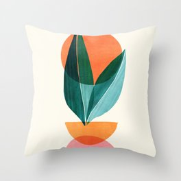 Nature Stack II / Abstract Shapes Illustration Throw Pillow