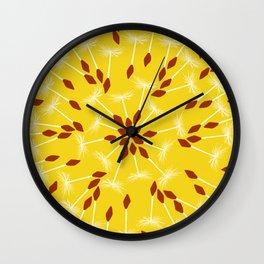 Dandelion Seed Pattern Wall Clock