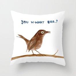 Brown Trembler Throw Pillow