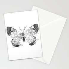 Butterfly Wanderlust Black and White Stationery Cards