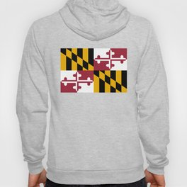 Maryland State Flag, Hi Def image Hoody