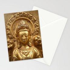 Gilded Buddha Image Swayambhu Stationery Cards