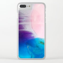 Coral beach Clear iPhone Case