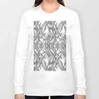blueprint Long Sleeve T-shirts featuring Blueprint - monochrome by Etch by Design