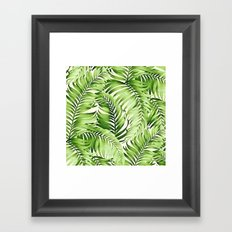 Greenery palm leaves Framed Art Print