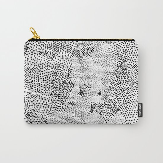 Dot Matrix BW | Abstract Geometric Carry-All Pouch