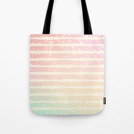 Glitter Wave Pink Sparkle Ombre Stripe Tote Bag