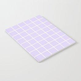 Lavender white minimalist grid pattern Notebook