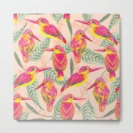 PINK BIRDS Metal Print