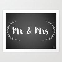 Mr and Mrs Art Print