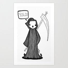 Grim Yolo Art Print