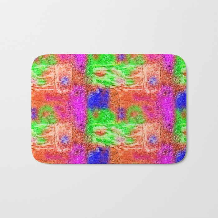 Colourful Abstract Texture Bath Mat