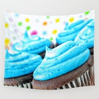 cupcakes Wall Tapestries featuring Cupcakes by ThePhotoGuyDarren