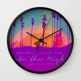 Into the Night Wall Clock
