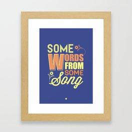 Some Song Framed Art Print