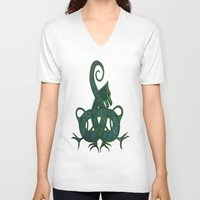 celtic V-neck T-shirts featuring Celtic Dragon by Erin Malbuisson-Delaney