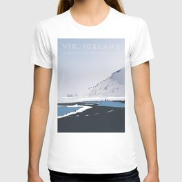 Vik Reynisfjara Black Sand Beach, Iceland Travel Poster T-shirt