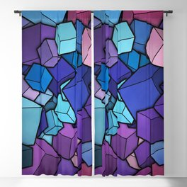 Abstract cubes Blackout Curtain