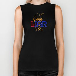 """WAR/LIAR"" Political word shift Ambigram Biker Tank"